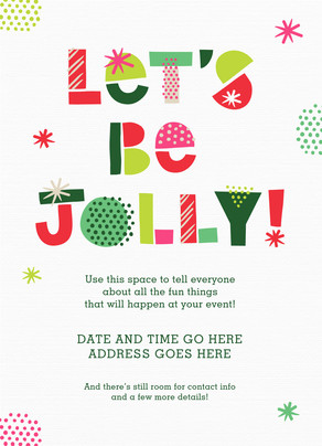 Jolly Holiday Invite 5x7 Flat Card