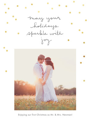 Sparkle with Joy 5x7 Flat Card