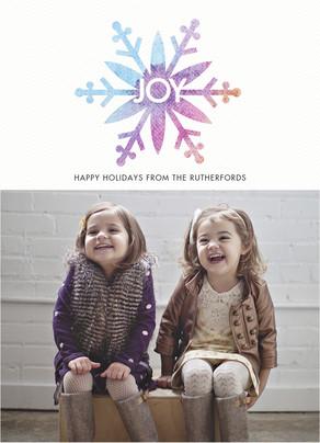 Snowflake Joy 5x7 Flat Card