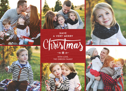 A Very Merry Christmas - Red 7x5 Flat Card