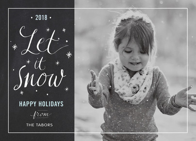 Let it Snow Chalkboard 7x5 Flat Card