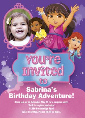 Dora Invitation Happy Birthday Invitation Cardstore