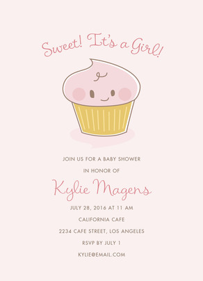 Baby Shower Cupcake 5x7 Flat Card