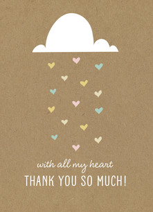 Shower of Love - Thank You 3.75x5.25 Folded Card