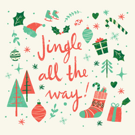 Jingle All the Way! - Square 4.75x4.75 Folded Card