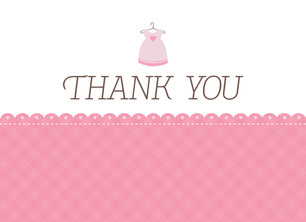 Dress Thank You 5.25x3.75 Folded Card