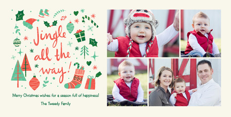 Jingle All the Way! - 4 Photos 8x4 Flat Card