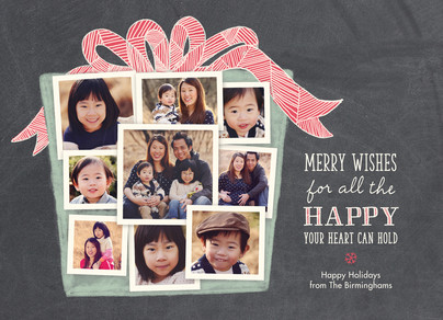 Photo Collage Present 7x5 Flat Card