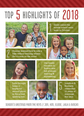 2016 Highlights 5x7 Flat Card