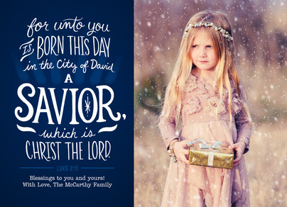Unto You a Savior - Photo 7x5 Flat Card