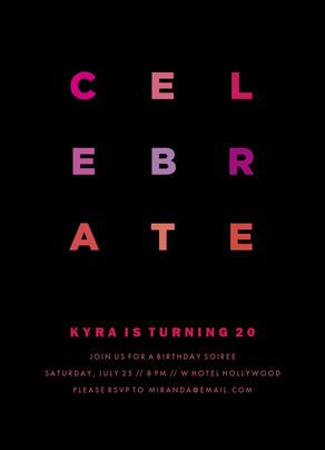 Celebrate in Pink 5x7 Flat Card