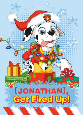 Paw Patrol - Holidays with Marshall 5x7 Folded Card