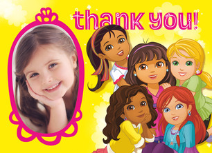 Dora - Thank You with Portrait 5.25x3.75 Folded Card