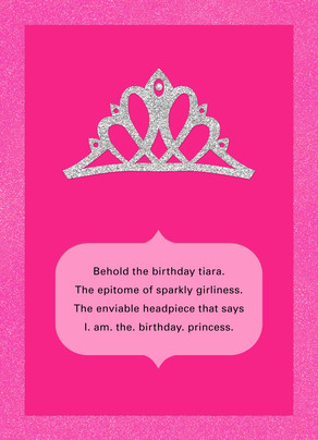 Birthday Royalty Card