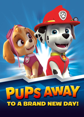 Paw Patrol - Marshall and Skye 5x7 Folded Card