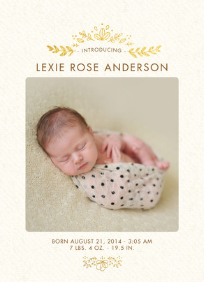 Laurels and Photo Announcement 5x7 Flat Card