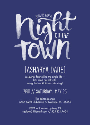 Night on the Town Invitation 5x7 Flat Card