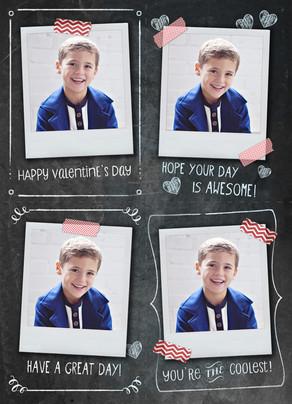 Valentine Chalkboard and Photos 5x7 Flat Card