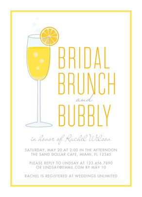 Bridal Brunch - Yellow Border 5x7 Flat Card