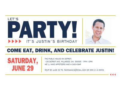 Let's Party! - Block Design 7x5 Flat Card