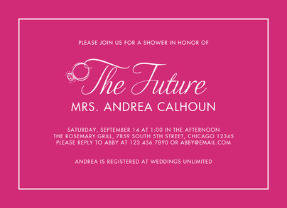 The Future Mrs. - Pink 7x5 Flat Card