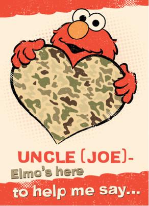 Thinking of You - Elmo 5x7 Folded Card
