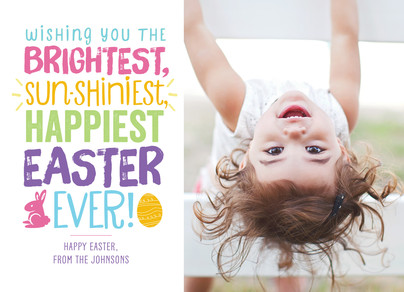 Bright and Shiny Easter 7x5 Flat Card