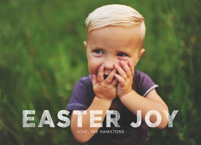 Easter Joy Overlay 7x5 Flat Card