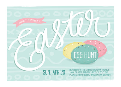 Easter Invitation 7x5 Flat Card
