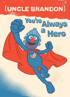Super Hero - Grover 5x7 Folded Card
