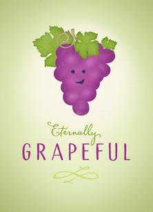 Eternally Grapeful 3.75x5.25 Folded Card