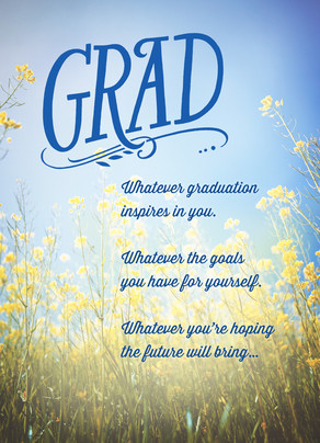 Graduation Inspiration 5x7 Folded Card