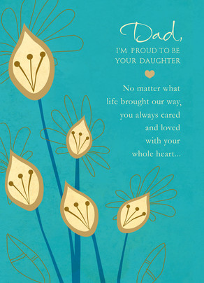 Proud to Be Your Daughter 5x7 Folded Card