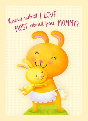 Mommy Bunny 5x7 Folded Card