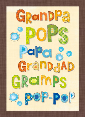Grandpa Means Love 5x7 Folded Card