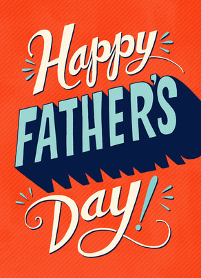 Father's Day Fun Lettering 5x7 Folded Card