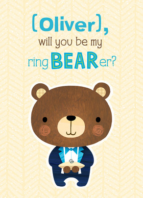 Be My Ring Bearer 5x7 Folded Card