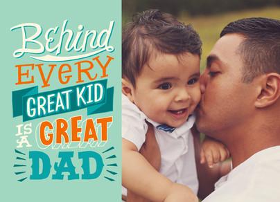 Behind Every Great Kid - Single Photo 7x5 Folded Card
