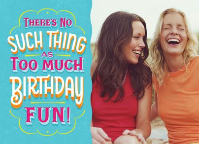 Bright Birthday Fun 7x5 Folded Card
