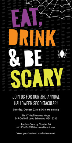 Eat, Drink & Be Scary 4x8 Flat Card