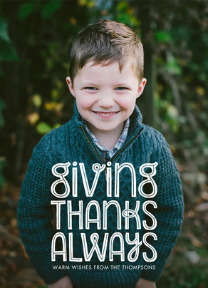 Giving Thanks Always 5x7 Flat Card