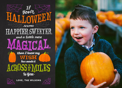 A Halloween Wish Across the Miles 7x5 Flat Card