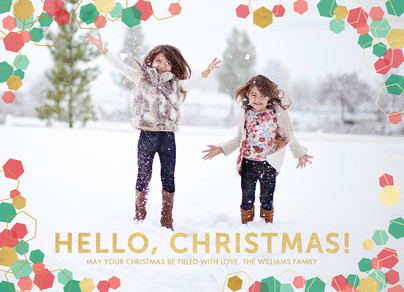 Hello, Christmas! 7x5 Flat Card