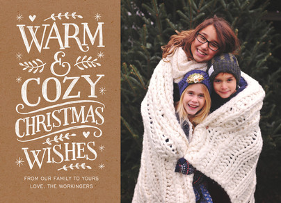 Warm & Cozy Christmas 7x5 Flat Card