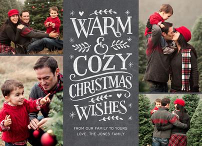 Warm & Cozy Chalkboard Lettering 7x5 Flat Card
