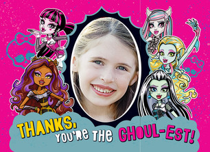 Monster High - Thank You Note Card 5.25x3.75 Folded Card