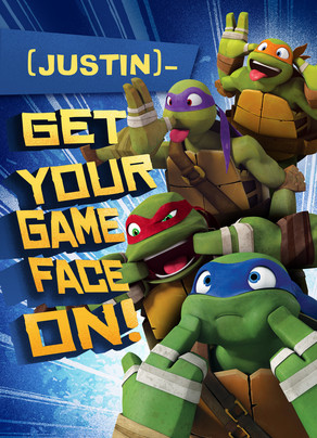 TMNT - Game Face 5x7 Folded Card