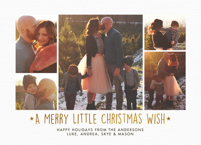 A Merry Little Christmas Wish 7x5 Flat Card