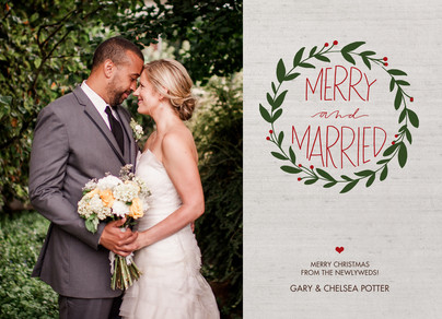 Merry and Married 7x5 Flat Card