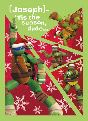 TMNT - Jolly Season 5x7 Folded Card